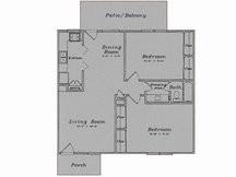 988 sq. ft. B2/80% floor plan