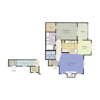 856 sq. ft. Fairview - A4 I floor plan