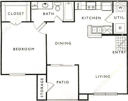 669 sq. ft. A floor plan