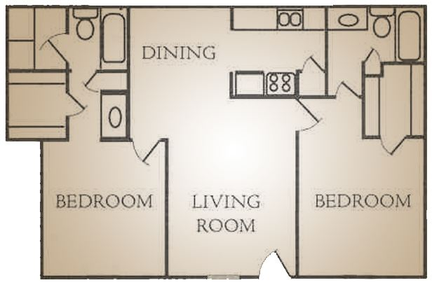 975 sq. ft. G floor plan