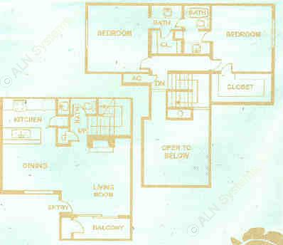 1,203 sq. ft. floor plan