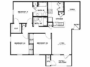 950 sq. ft. 50 floor plan