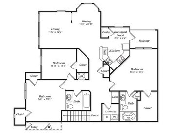 1,458 sq. ft. C1I/C1UG floor plan