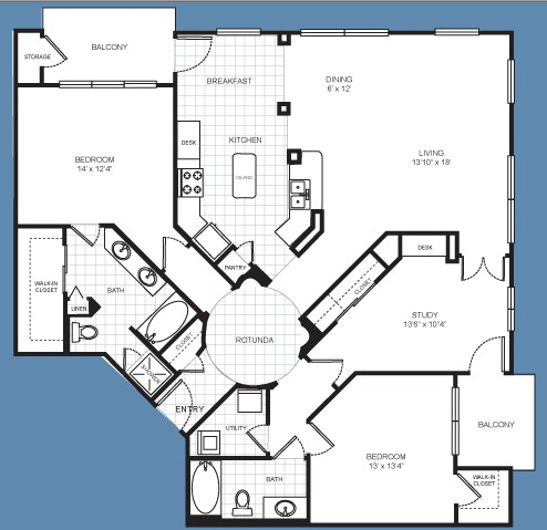 1,670 sq. ft. C2 floor plan
