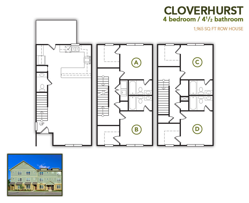 1,965 sq. ft. Cloverhurst floor plan
