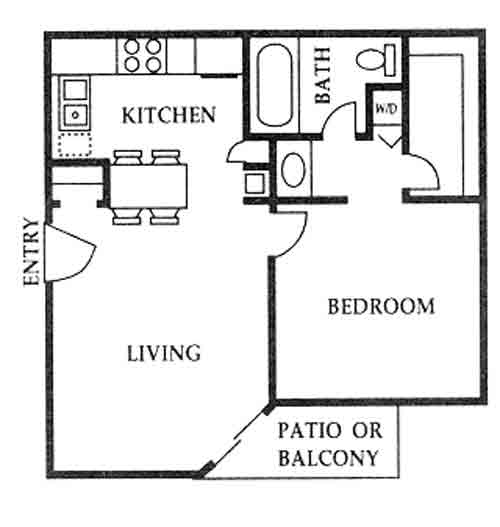 520 sq. ft. A floor plan