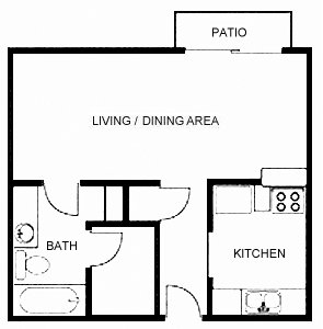 501 sq. ft. floor plan