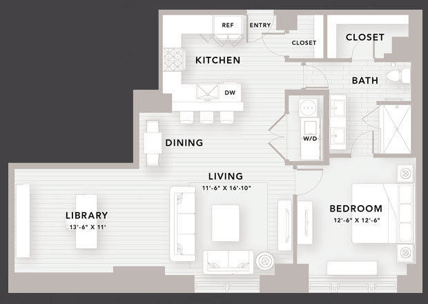 1,099 sq. ft. B10 floor plan