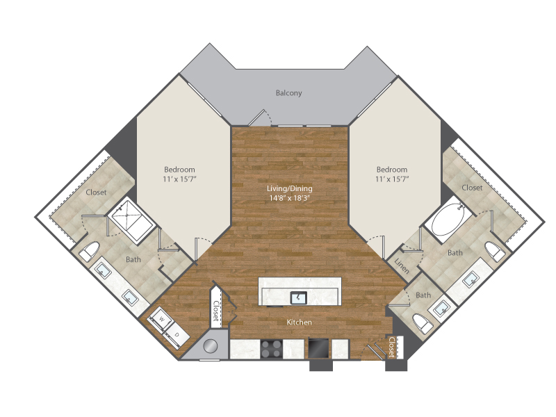 1,467 sq. ft. to 1,548 sq. ft. A9 floor plan