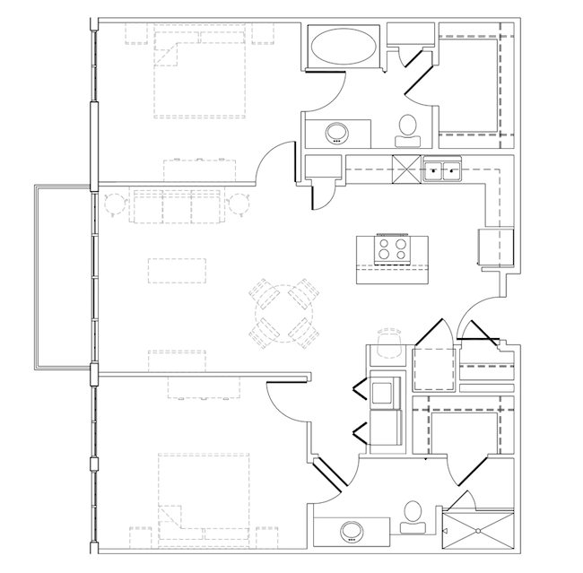 1,127 sq. ft. Stevie Ray floor plan
