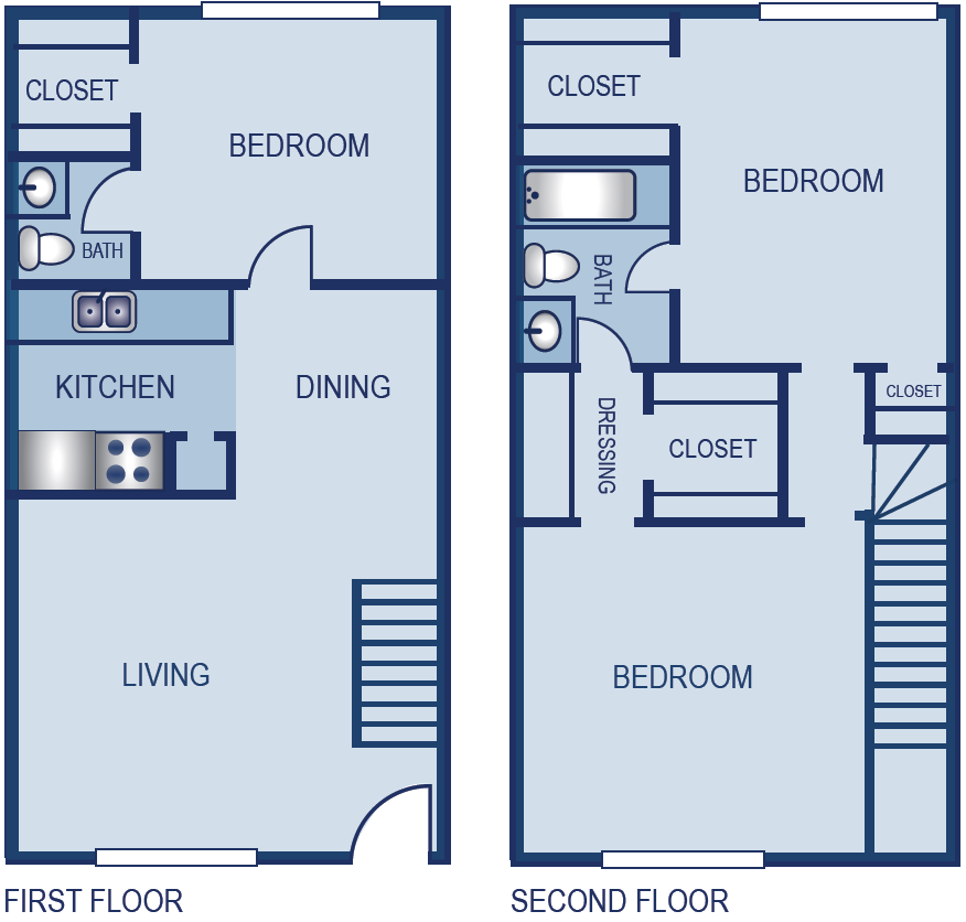 1,140 sq. ft. B4S floor plan