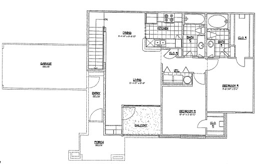 1,008 sq. ft. D2/60% floor plan