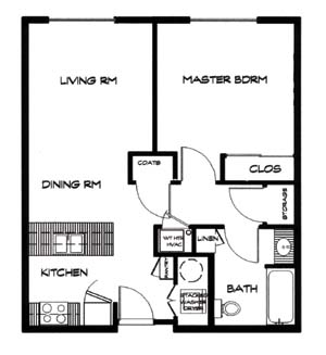 656 sq. ft. 30 floor plan