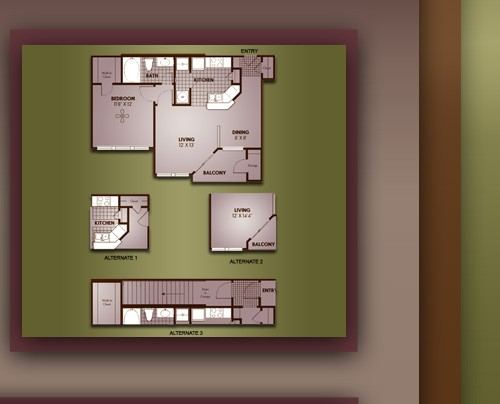 655 sq. ft. A1/BRISTOL floor plan