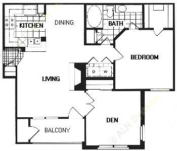 889 sq. ft. A4/Dorchester floor plan