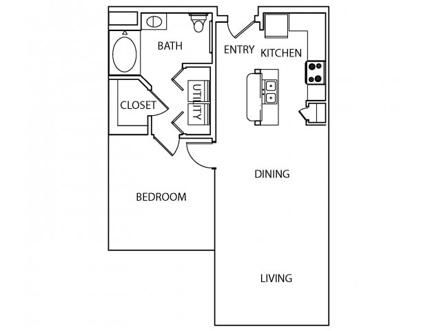 770 sq. ft. Common floor plan