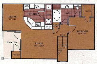 727 sq. ft. A1/Bandera floor plan