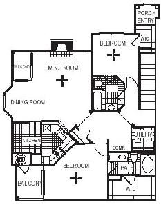 1,377 sq. ft. B5G floor plan