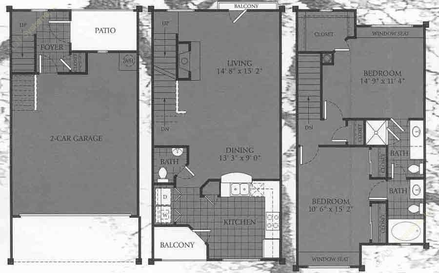 1,329 sq. ft. ASHLAND floor plan