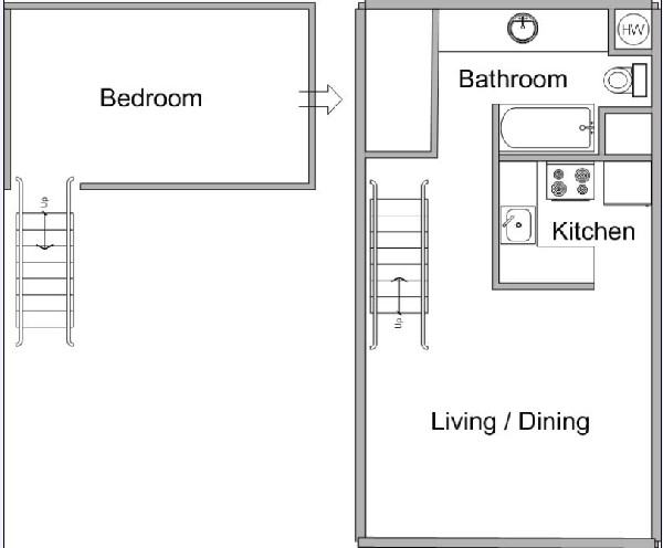 693 sq. ft. floor plan