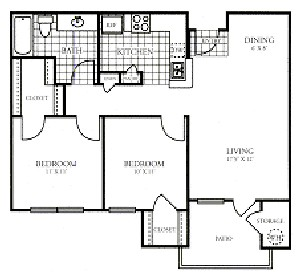 834 sq. ft. PATIO/50% floor plan