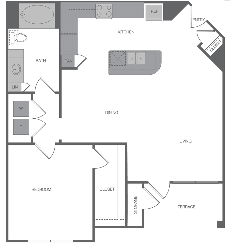 863 sq. ft. A4 floor plan