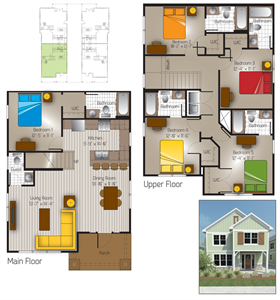 1,985 sq. ft. Bandera 2(Cottage) floor plan