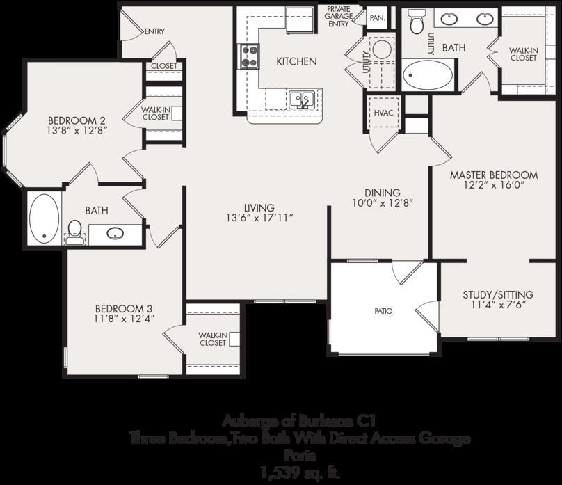 1,539 sq. ft. floor plan