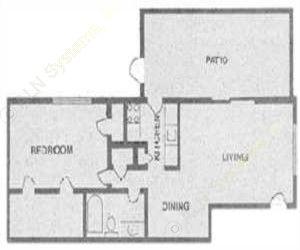 725 sq. ft. CHARLESTON floor plan