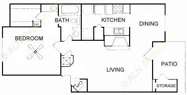 745 sq. ft. floor plan