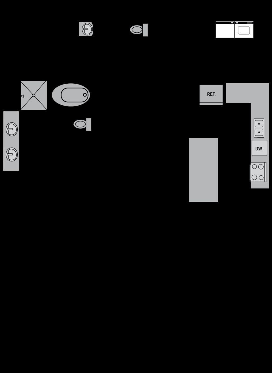 1,117 sq. ft. B1 floor plan