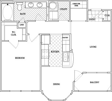 762 sq. ft. to 816 sq. ft. floor plan