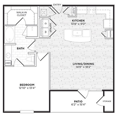 878 sq. ft. A4 floor plan