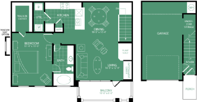 903 sq. ft. Innisbrook floor plan