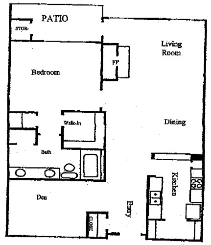 900 sq. ft. A floor plan