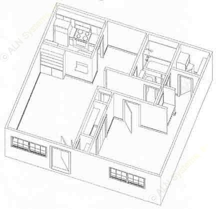 660 sq. ft. to 680 sq. ft. A2 floor plan