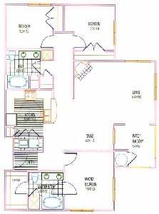 1,395 sq. ft. C1 floor plan
