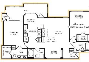 1,238 sq. ft. Juniper - A floor plan