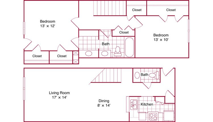 1,132 sq. ft. Natchez floor plan