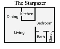 667 sq. ft. G1/1C floor plan