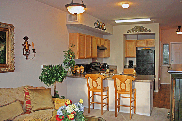 Living/Kitchen at Listing #144232