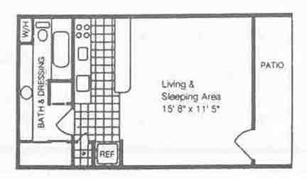 365 sq. ft. EFF/80% floor plan