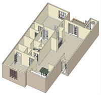 976 sq. ft. B2 floor plan