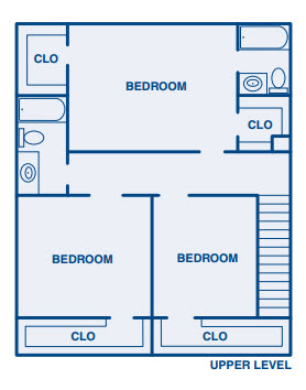 1,900 sq. ft. C1 floor plan