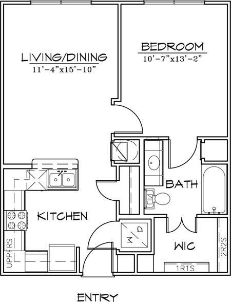 621 sq. ft. floor plan