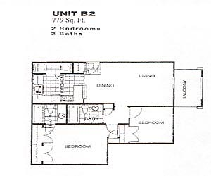 779 sq. ft. 50% floor plan