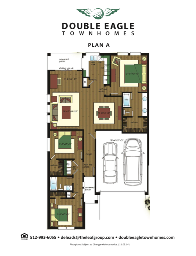 1,156 sq. ft. Plan C floor plan