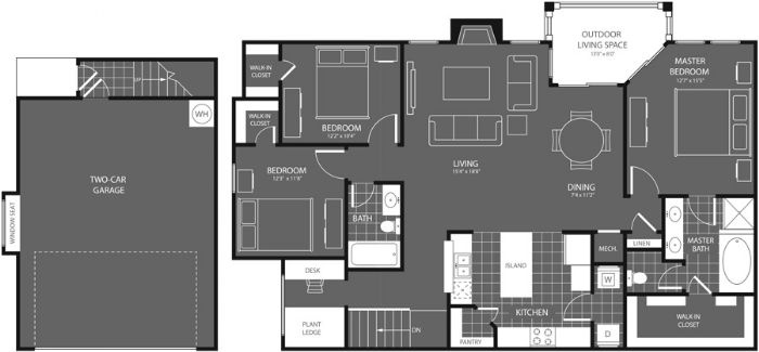 1,597 sq. ft. Pine floor plan
