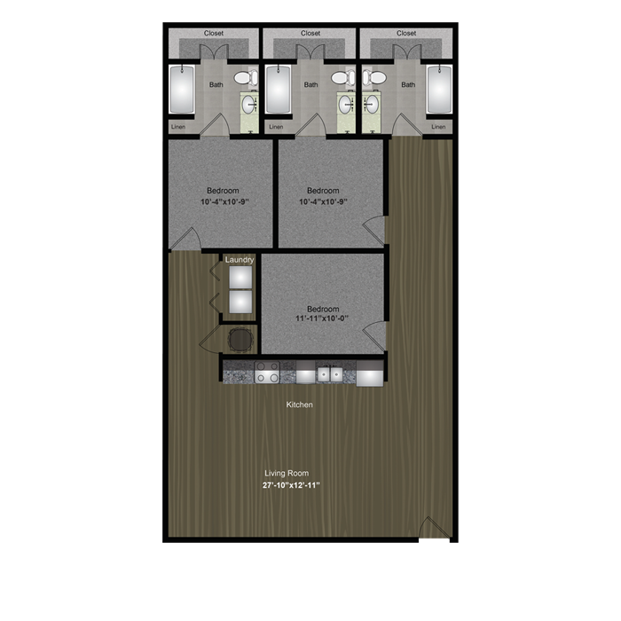 1,442 sq. ft. Mount Bonnell floor plan