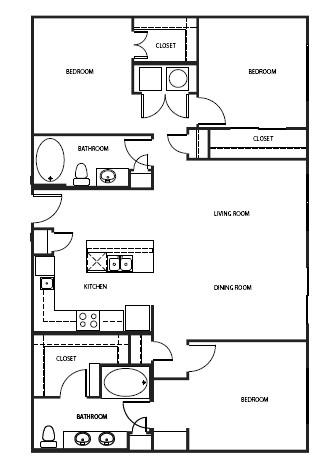 1,440 sq. ft. C0-P floor plan